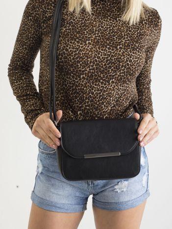 Czarna torebka damska z ekoskóry