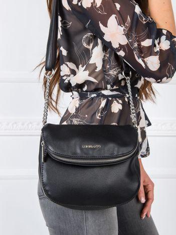 Czarna torebka damska ze skóry ekologicznej