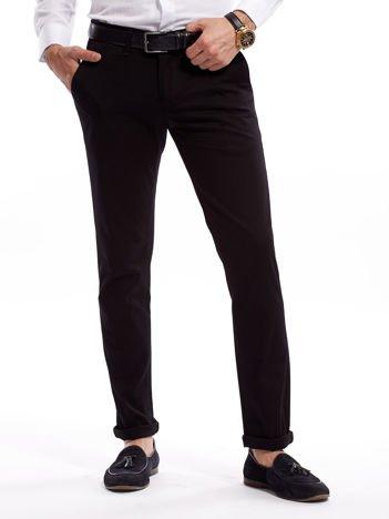 Czarne bawełniane spodnie męskie