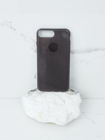 Czarne brokatowe etui do iPhone 7G/8G Plus