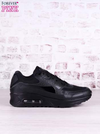 Czarne buty sportowe na poduszce powietrznej