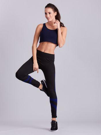 Czarne damskie legginsy sportowe