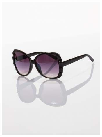 Czarne duże okulary dla kobiet klasyczna oprawka z filtrami UV