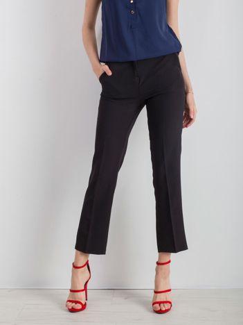 Czarne eleganckie damskie spodnie