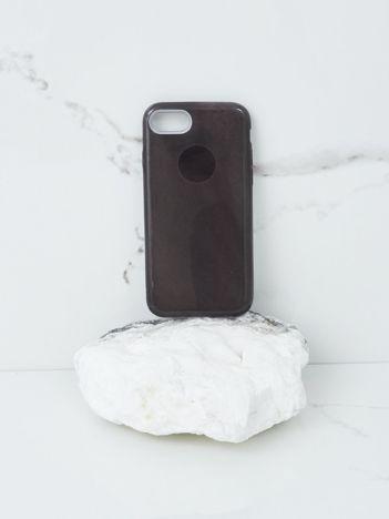 Czarne etui brokatowe do iPhone 7G/8G