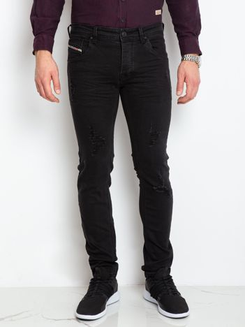 Czarne jeansy męskie Impression