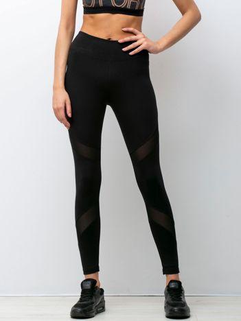 Czarne legginsy Fitness