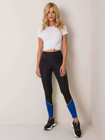 Czarne legginsy Yvette FOR FITNESS