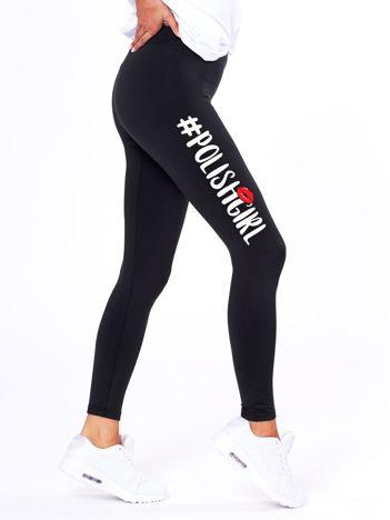 Czarne legginsy damskie #POLISHGIRL