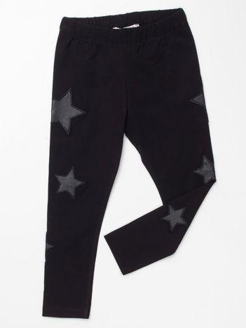 Czarne legginsy dla dziewczynki w gwiazdki