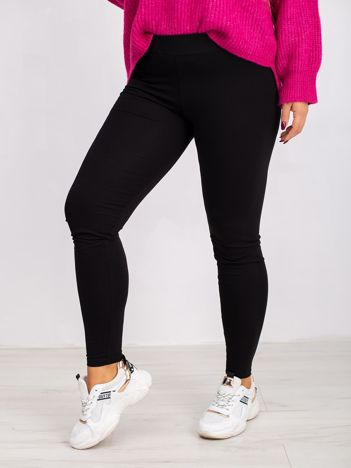 Czarne legginsy plus size Smooth