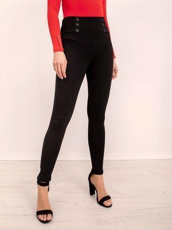 Czarne legginsy z guzikami BSL