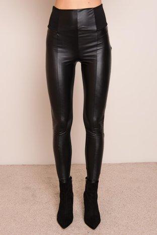 Czarne legginsy z wysokim stanem BSL