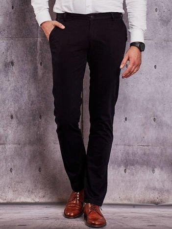 Czarne materiałowe spodnie męskie chinosy