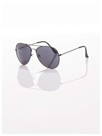 Czarne okulary przeciwsłoneczne pilotki  AVIATORY