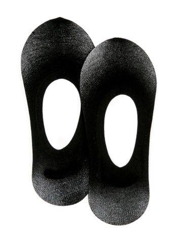 Czarne skarpetki do balerin