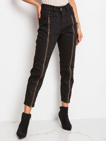 Czarne spodnie Harlow