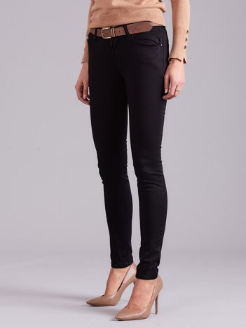 Czarne spodnie damskie slim fit