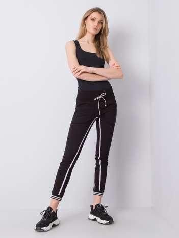 Czarne spodnie dresowe Allie RUE PARIS