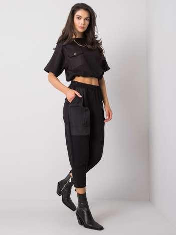 Czarne spodnie dresowe Augusta RUE PARIS