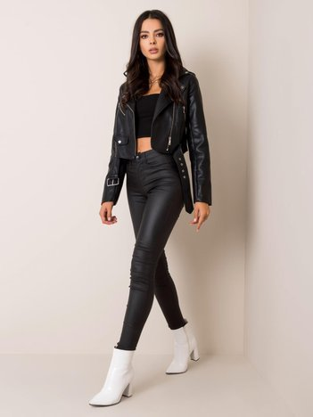 Czarne woskowane spodnie Chamille SUBLEVEL