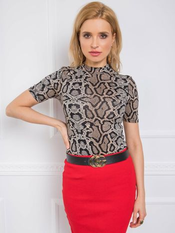 Czarno-beżowa bluzka Poppy RUE PARIS