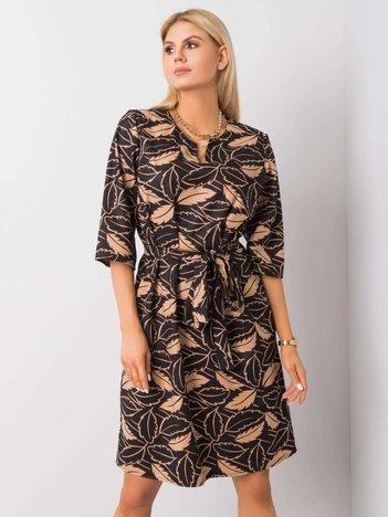 Czarno-beżowa sukienka Luna