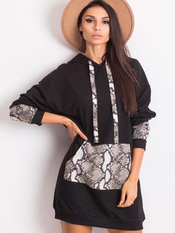 Czarno-beżowa sukienka Sierra