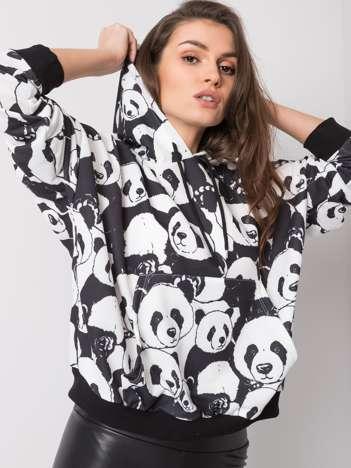 Czarno-biała bluza Panda