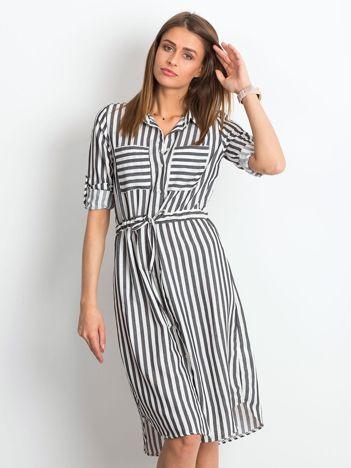 7304409ac9 Czarno-biała sukienka Attached