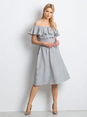 Czarno-biała sukienka Caveats