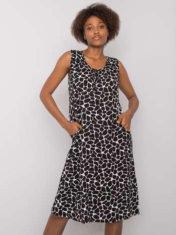 Czarno-biała sukienka z printem Nira