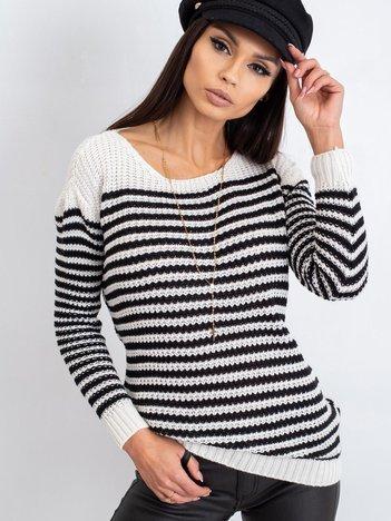 Czarno-biały sweter Oscar