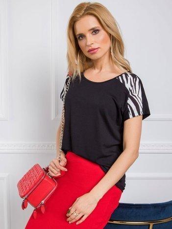 Czarno-biały t-shirt Zebra RUE PARIS
