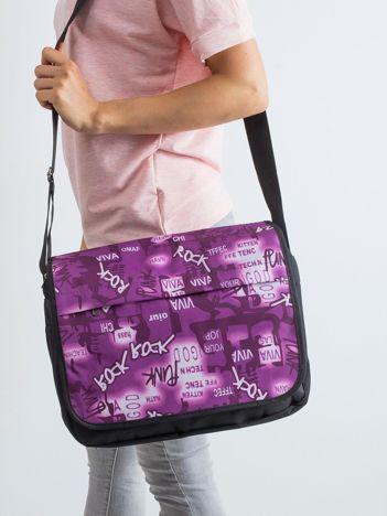 Czarno-fioletowa torba na ramię