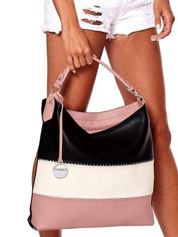 Czarno-różowa modułowa miękka torba