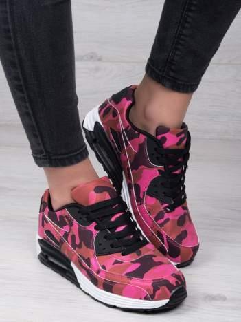 Czarno-różowe moro buty sportowe na poduszce powietrznej
