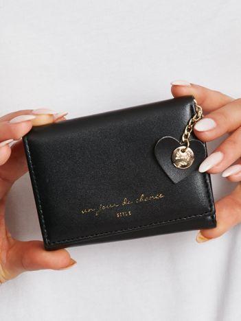 Czarno-różowy mini portfel