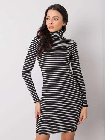 Czarno-srebrna sukienka Marcella RUE PARIS