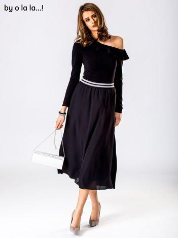 Czarno-srebrny komplet body i spódnica BY O LA LA