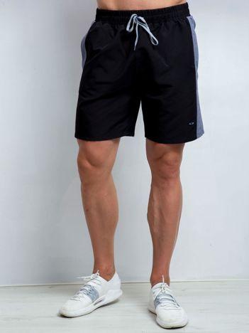 Czarno-szare szorty męskie plus size Movement
