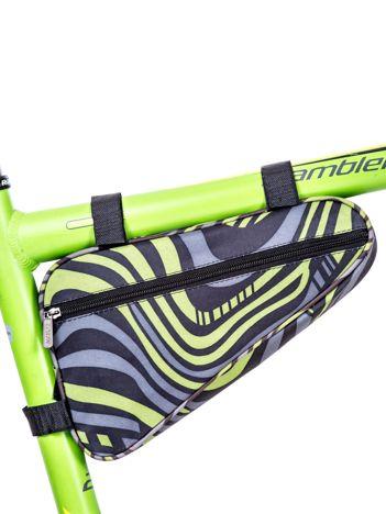 Czarno-zielona saszetka na rower w kolorowe wzory