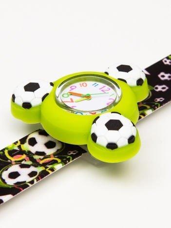 Czarno-zielony OBROTOWY zegarek dziecięcy z paskiem typu SLAP