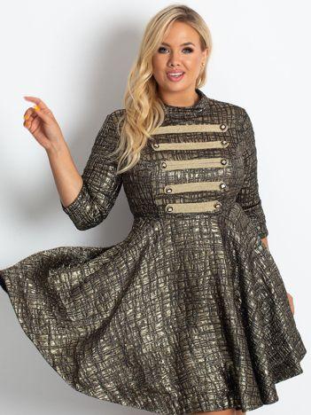 Czarno-złota sukienka Midnight PLUS SIZE