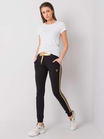 Czarno-złote spodnie dresowe Brenda