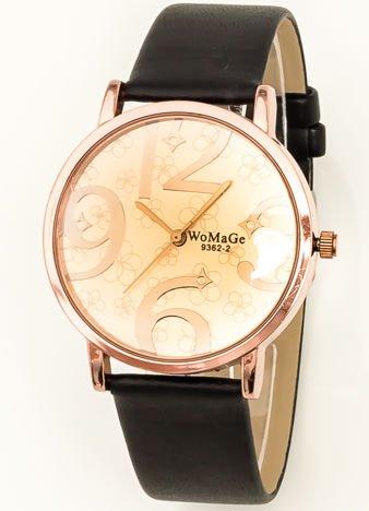 Czarno-złoty zegarek damski