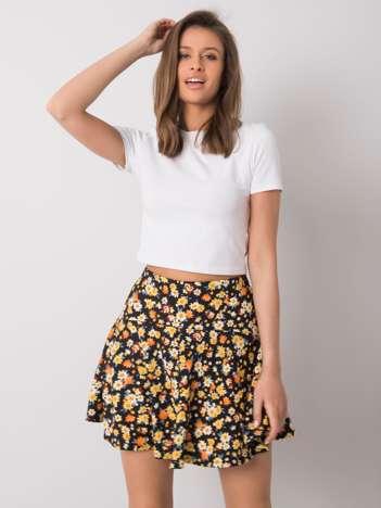Czarno-żółta spódnica w kwiaty Chelle RUE PARIS