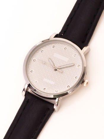 Czarny Mały Zegarek Damsk Z Kryształami Na Tarczy