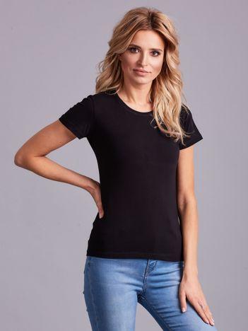 Czarny damski t-shirt basic