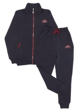 Czarny dresowy komplet dziecięcy spodnie i bluza